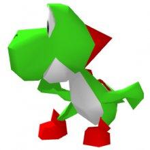 スマブラ64、ヨッシーのペーパークラフト