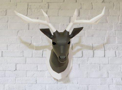 ペーパークラフトのトナカイハンティングトロフィー(deer of papercraft_hunting_trophy