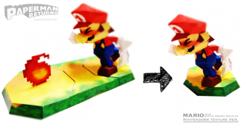 マリオのペーパークラフト(papercraft of mario)