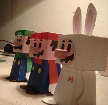 ハコマリオ(箱マリオ)ペーパークラフト hako_mario_papercraft