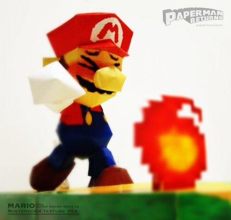 マリオのペーパークラフト Papercraft of  MARIO